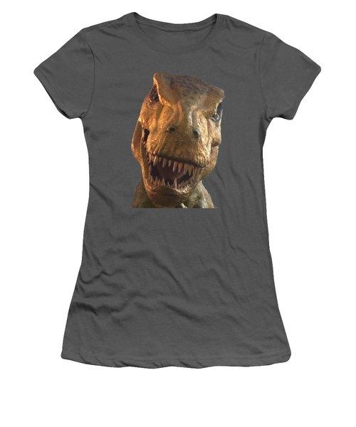 Dino Hello Women's T-Shirt (Junior Cut) by Charles Kraus