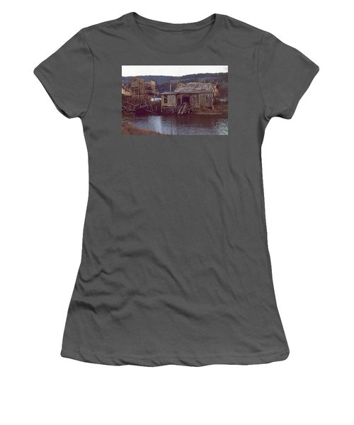 Discovery Bay Mill Women's T-Shirt (Junior Cut) by Laurie Stewart