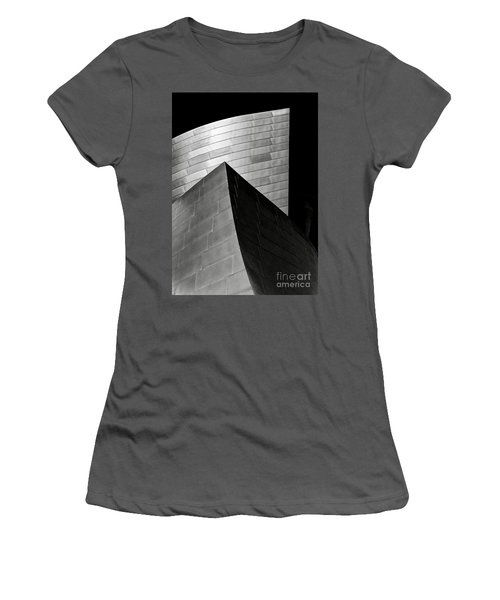 Disney Concert Hall Black And White Women's T-Shirt (Athletic Fit)