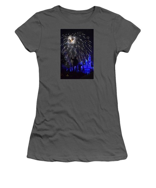 Disney Land Women's T-Shirt (Junior Cut) by Alex King