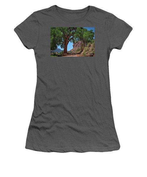 Distant Escalante Moon Women's T-Shirt (Junior Cut) by Janice Rae Pariza