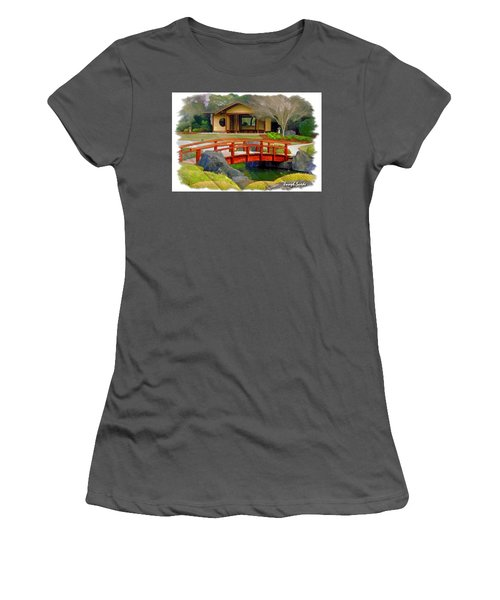 Do-00006 Cypress Bridge And Tea House Women's T-Shirt (Athletic Fit)