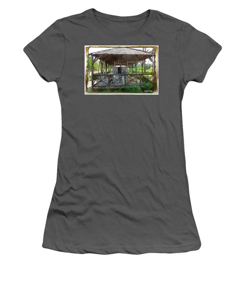 Women's T-Shirt (Athletic Fit) featuring the photograph Do-00341 Cabin Outdoor Bois Des Pins by Digital Oil