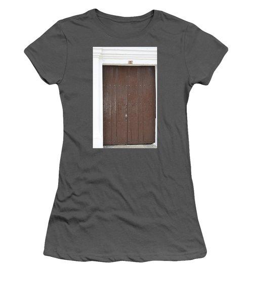 Door # 3  Women's T-Shirt (Athletic Fit)