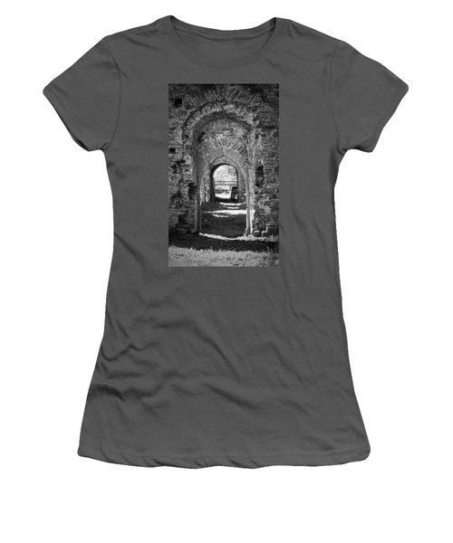 Doors At Ballybeg Priory In Buttevant Ireland Women's T-Shirt (Athletic Fit)