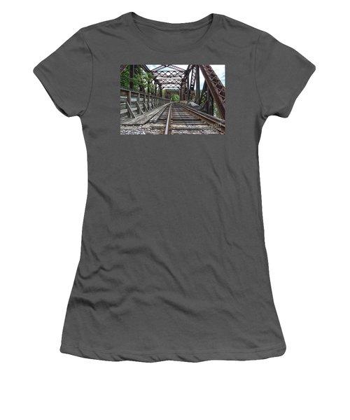 Double Truss Bridge #1679 On The Wmsr Women's T-Shirt (Athletic Fit)