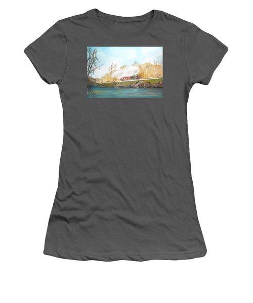 Down By The River Side Women's T-Shirt (Junior Cut) by Carole Robins