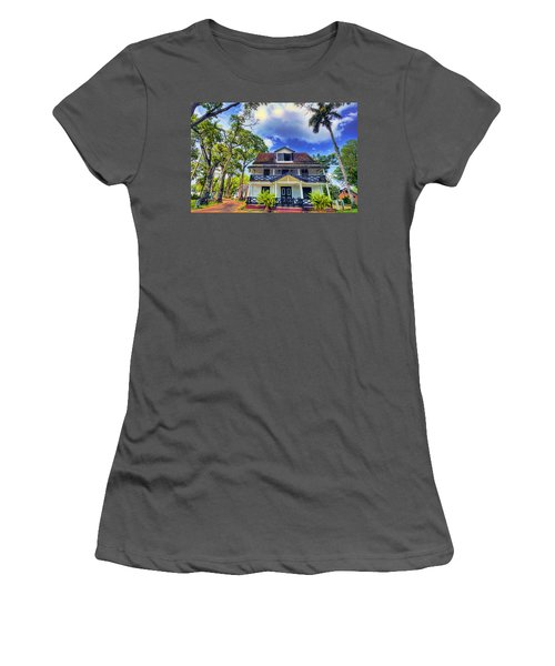 Downtown In The Tropics Women's T-Shirt (Athletic Fit)