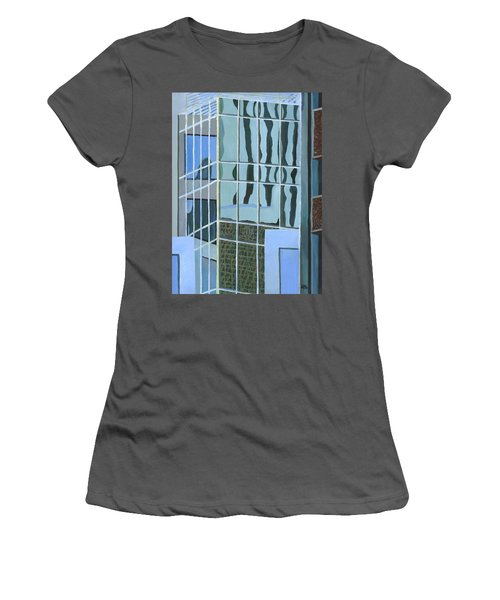 Downtown Reflections Women's T-Shirt (Junior Cut) by Alika Kumar