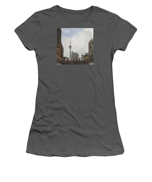 Downtown Toronto In Color Women's T-Shirt (Athletic Fit)