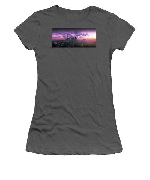 Dramatic Charlotte Sunrise Women's T-Shirt (Athletic Fit)