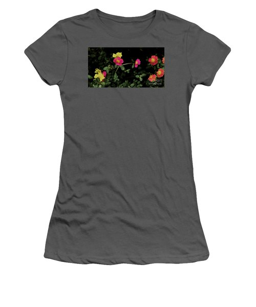 Dramatic Colorful Flowers Women's T-Shirt (Athletic Fit)
