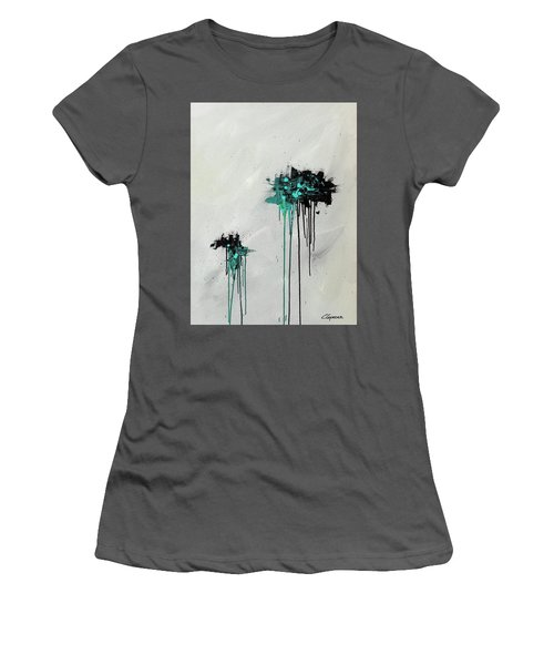 Women's T-Shirt (Junior Cut) featuring the painting Dreamers by Carmen Guedez