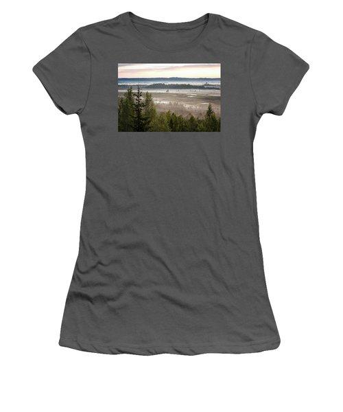 Dreamlike Landscape Women's T-Shirt (Junior Cut) by Teemu Tretjakov