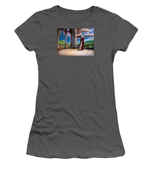 Women's T-Shirt (Junior Cut) featuring the painting Dreams Of Heaven by Dave Luebbert