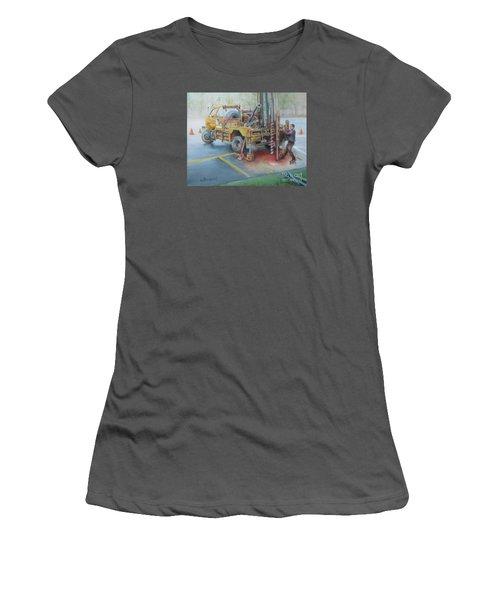 Drill,drill,drill Women's T-Shirt (Junior Cut) by Oz Freedgood