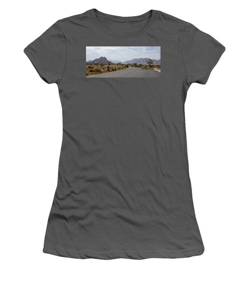 Driving Through Joshua Tree National Park Women's T-Shirt (Athletic Fit)