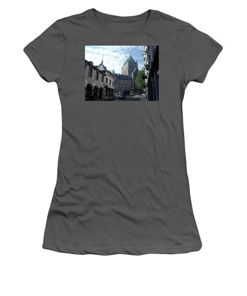 Women's T-Shirt (Athletic Fit) featuring the photograph du Fort Chateau Frontenac by John Schneider