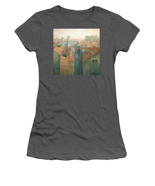 Dubrovnik Rooftops Women's T-Shirt (Junior Cut) by Steve Mitchell