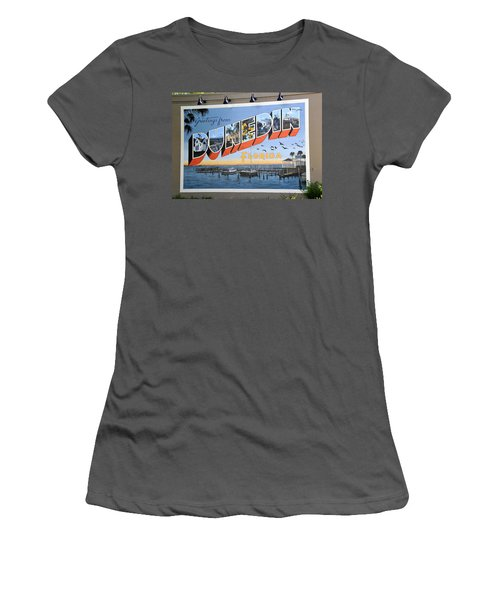 Dunedin Florida Post Card Women's T-Shirt (Athletic Fit)