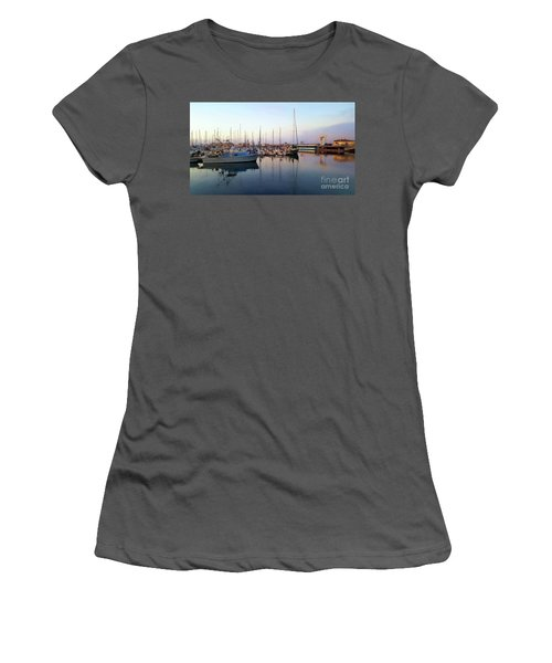 Dusk At Old Fisherman's Wharf Women's T-Shirt (Junior Cut) by Gina Savage