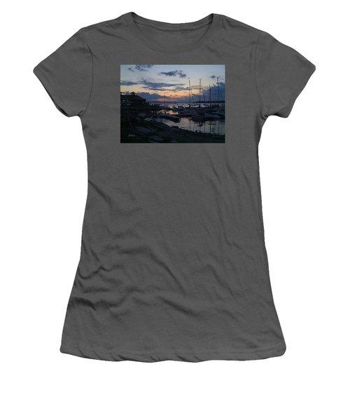 Women's T-Shirt (Junior Cut) featuring the photograph Dusk Begins To Sleep by Felipe Adan Lerma
