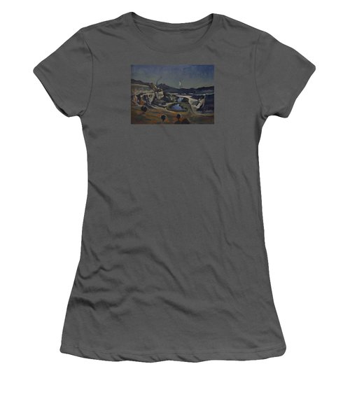 Dusk Over The Sint Pietersberg Women's T-Shirt (Athletic Fit)