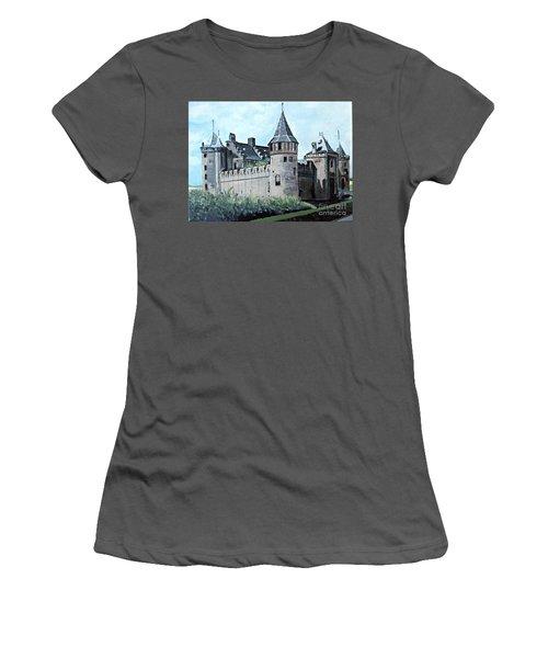 Dutch Castle In Muiden Women's T-Shirt (Junior Cut) by Francine Heykoop