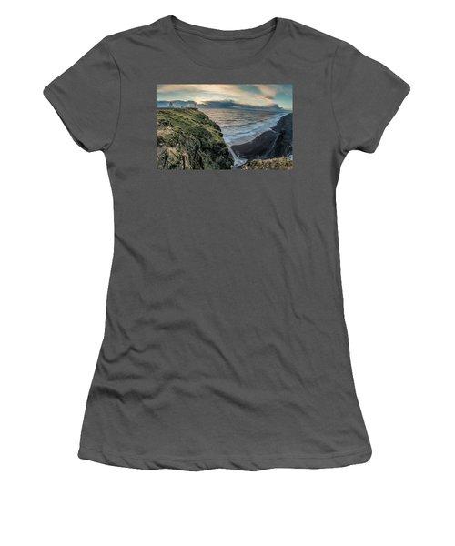 Dyrholaey Light House Women's T-Shirt (Junior Cut) by Allen Biedrzycki