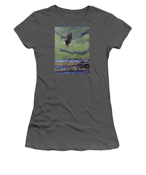 Eagle River Women's T-Shirt (Junior Cut) by Dan Wagner