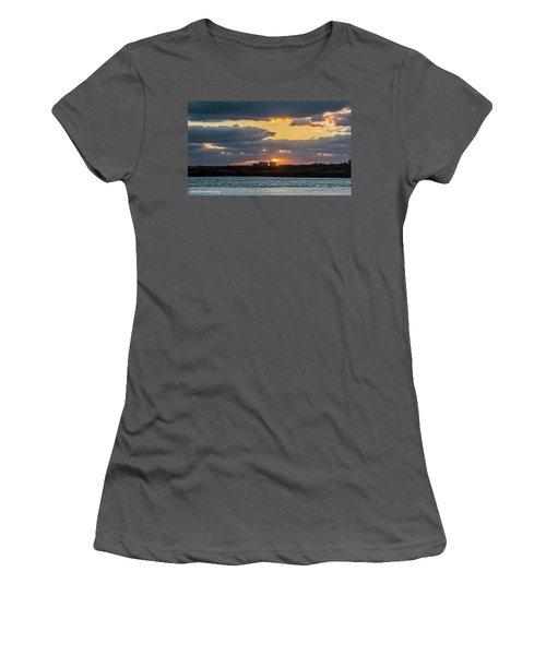 Early Sun Women's T-Shirt (Junior Cut) by Nance Larson
