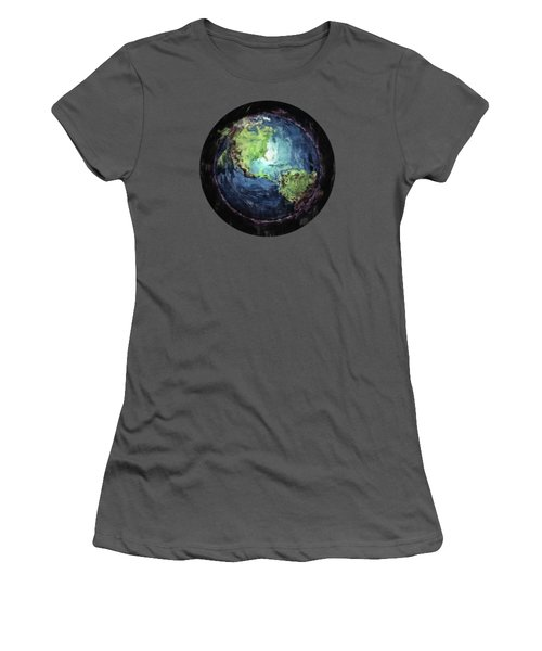 Earth And Space Women's T-Shirt (Junior Cut) by Phil Perkins