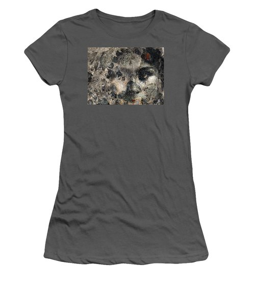 Women's T-Shirt (Junior Cut) featuring the photograph Earth Memories - Stone # 7 by Ed Hall