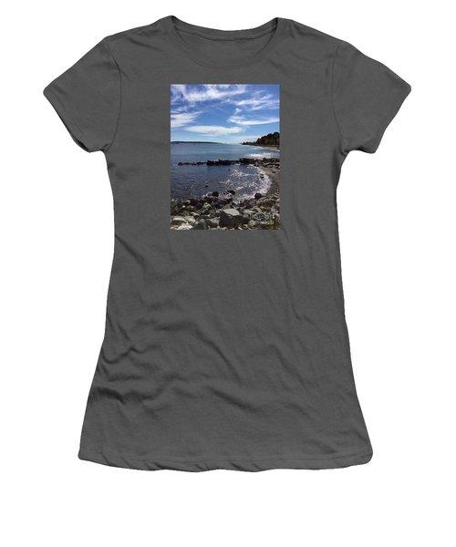 East End Beach Portland, Maine, October 2015 Women's T-Shirt (Junior Cut) by Patricia E Sundik