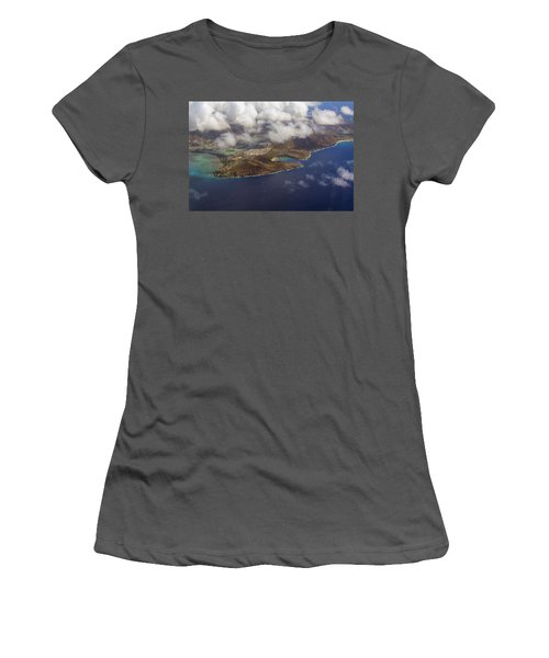 East Oahu From The Air Women's T-Shirt (Athletic Fit)