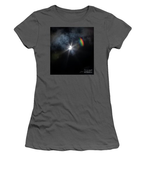 Solar Eclipse 2017 And Rainbow Women's T-Shirt (Athletic Fit)