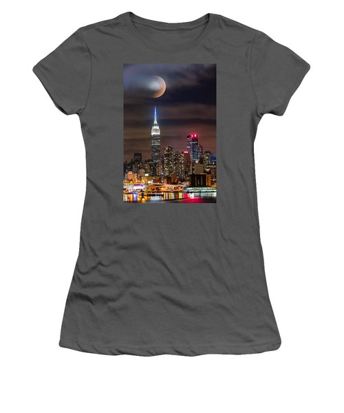 Eclipse Women's T-Shirt (Junior Cut) by Mihai Andritoiu