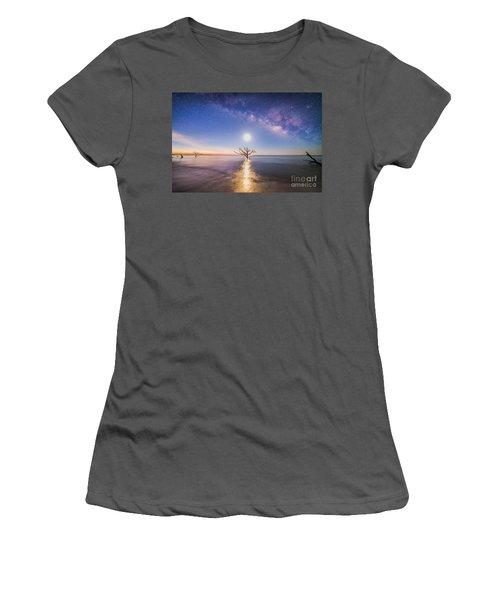 Edisto Island Milky Way Women's T-Shirt (Junior Cut) by Robert Loe