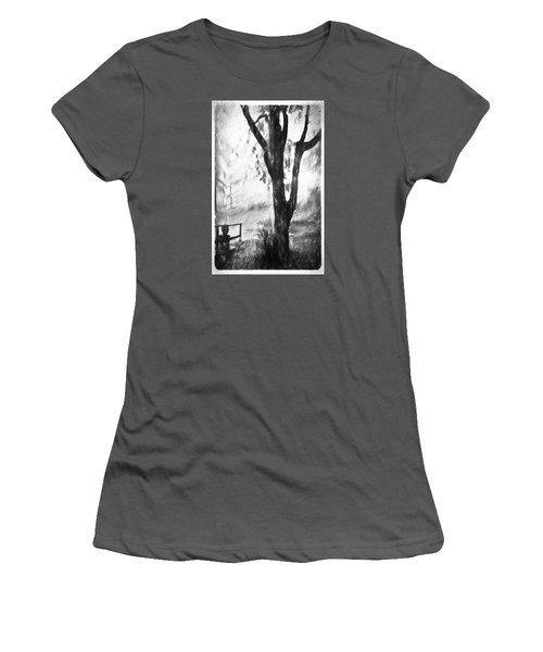 Tree In The Mist Women's T-Shirt (Junior Cut) by Rena Trepanier