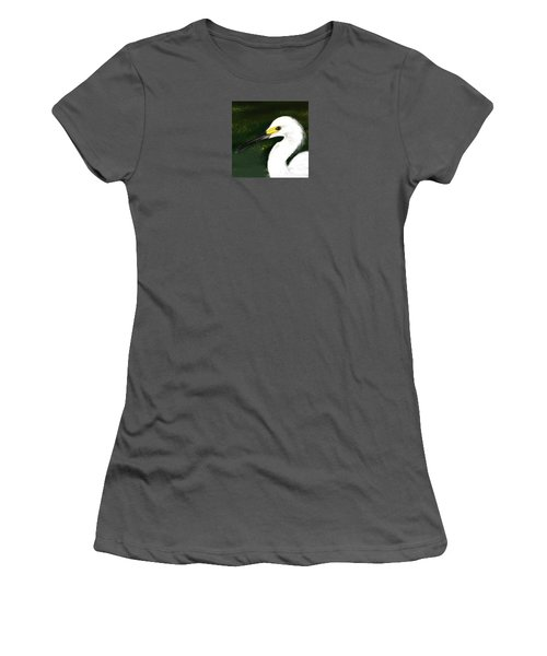 Egret Women's T-Shirt (Junior Cut) by Beth Klock