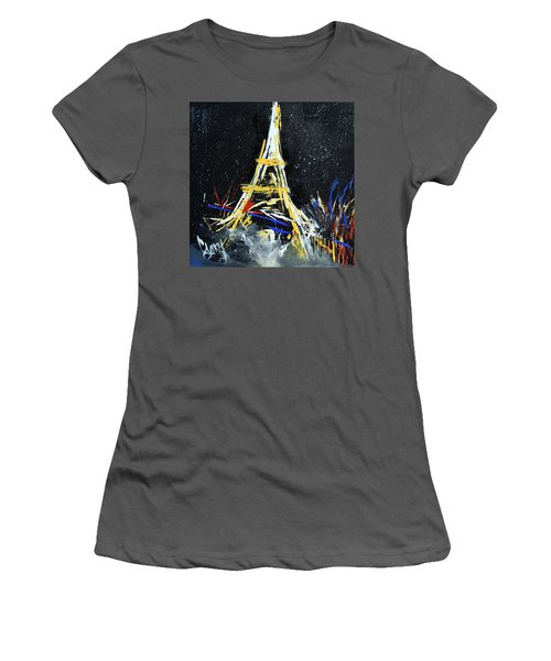 Women's T-Shirt (Junior Cut) featuring the painting Eiffel by Gary Smith