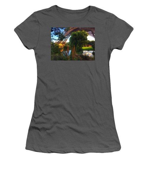 Eiffel Women's T-Shirt (Junior Cut) by Marty Cobcroft