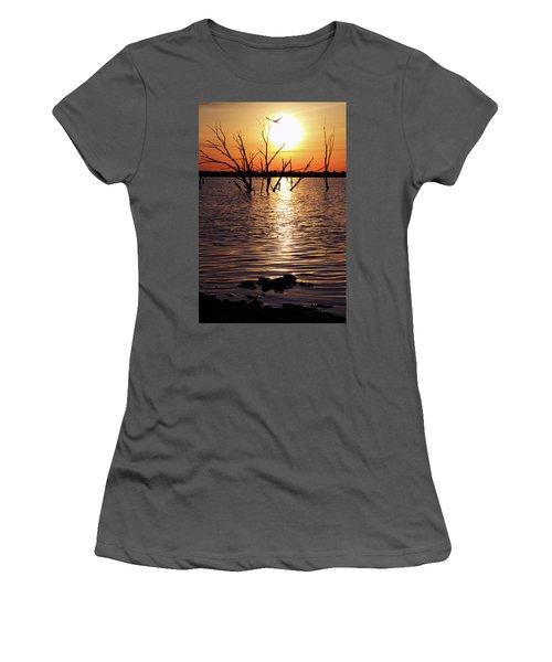 El Dorado Lake Morning Women's T-Shirt (Athletic Fit)