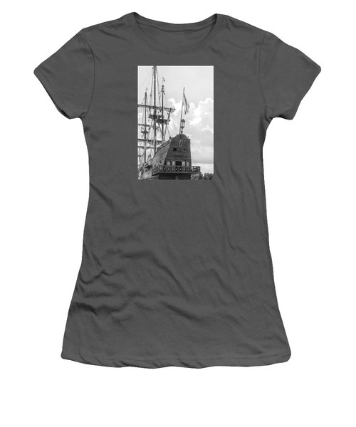 Women's T-Shirt (Junior Cut) featuring the photograph El Galeon by Bob Decker