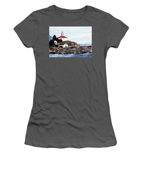 Eldred Rock Lighthouse Women's T-Shirt (Athletic Fit)