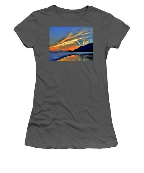 Electric Sunrise Women's T-Shirt (Athletic Fit)