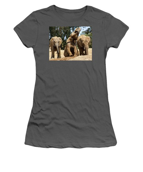 Elephants Women's T-Shirt (Athletic Fit)