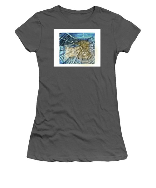 Elitch Pavilion Redo Women's T-Shirt (Junior Cut) by Deborah Nakano