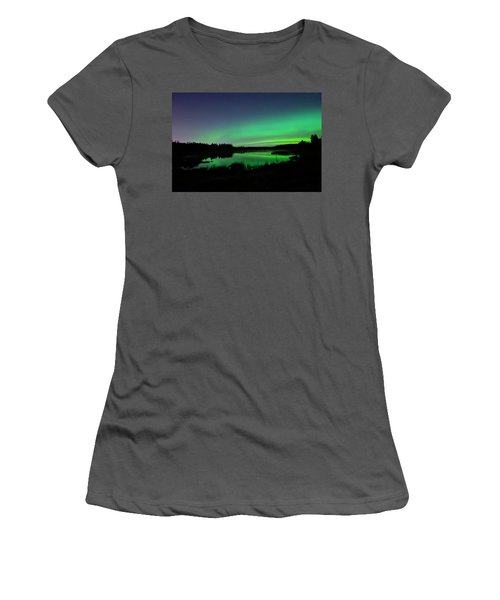 Elk Island Aurora Reflections Women's T-Shirt (Athletic Fit)