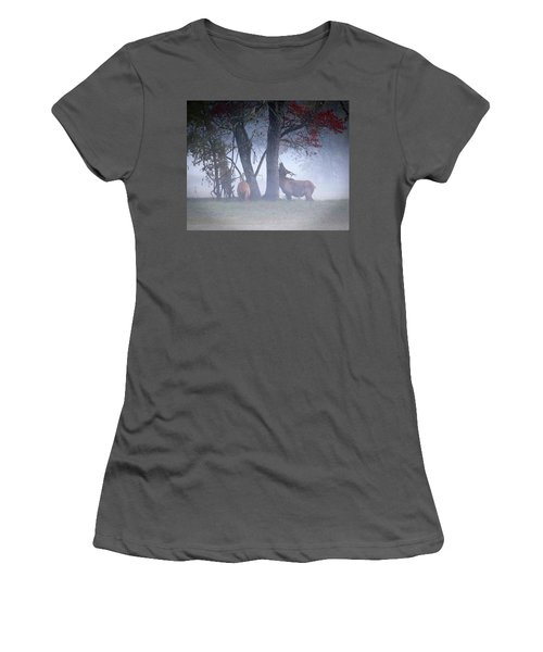 Elk Neck Scratch Women's T-Shirt (Junior Cut) by Lamarre Labadie